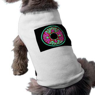 El Victorian púrpura y verde deja el ornamento Ropa De Mascota