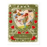 El Victorian retro de la tarjeta del día de San Va Postal
