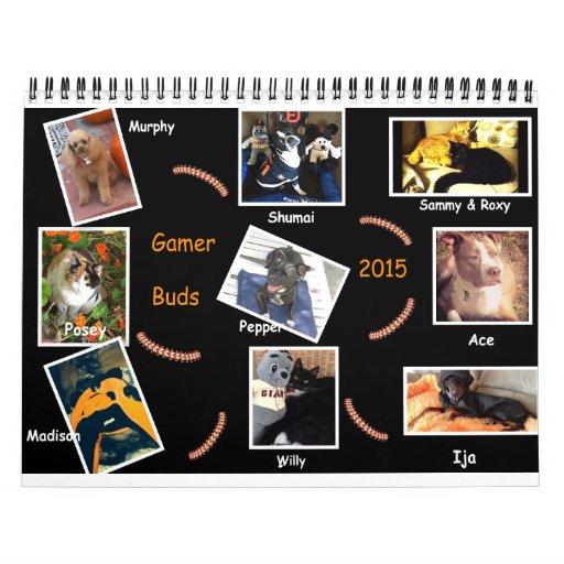 El videojugador florece el calendario 2015