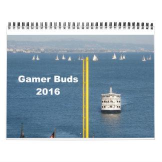 El videojugador florece el calendario 2016