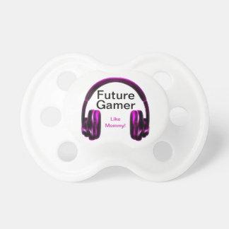¡El videojugador futuro tiene gusto de la mamá! Chupetes Para Bebés
