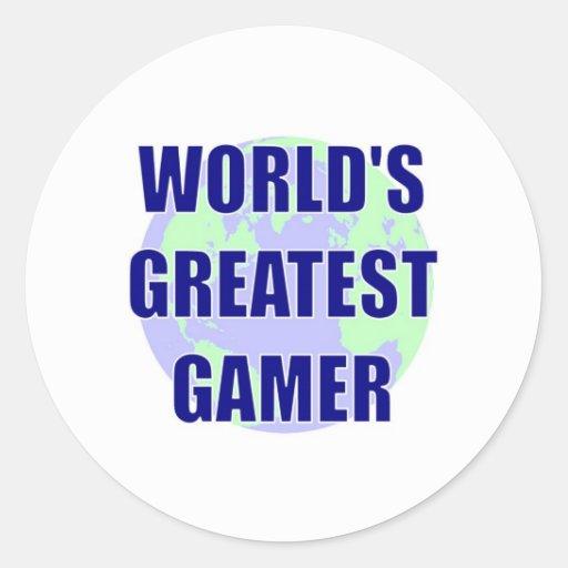 El videojugador más grande del mundo pegatina redonda