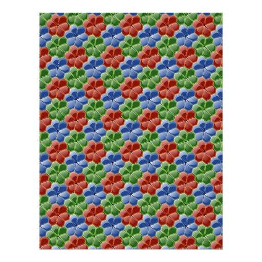 El vidrio abstracto colorido florece el papel del  plantilla de membrete