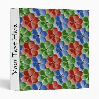 El vidrio abstracto colorido florece la carpeta