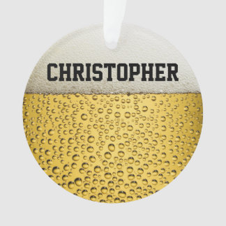 El vidrio de cerveza personaliza