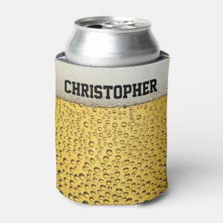 El vidrio de cerveza personaliza enfriador de latas
