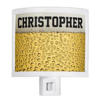 El vidrio de cerveza personaliza lámparas de noche