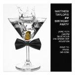 El vidrio de Martini sirve a cualquier fiesta de c Invitación Personalizada