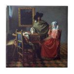 El vidrio de vino de Juan Vermeer Azulejos