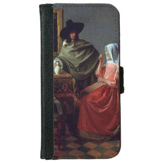 El vidrio de vino de Juan Vermeer Funda Cartera Para iPhone 6