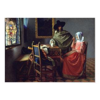 El vidrio de vino de Juan Vermeer Invitación Personalizada