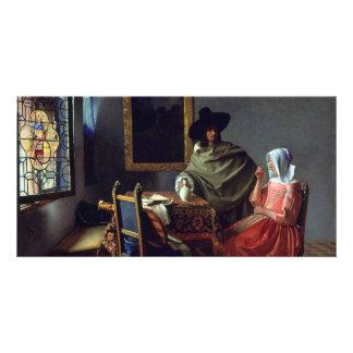 El vidrio de vino de Juan Vermeer Tarjeta Fotográfica Personalizada