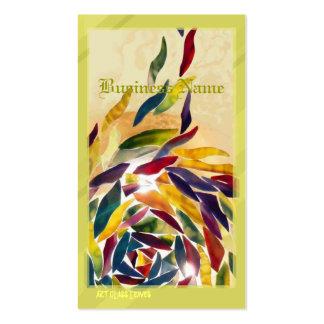 El vidrio del arte sale de la tarjeta de visita co
