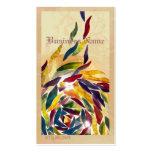 El vidrio del arte sale de la tarjeta de visita el