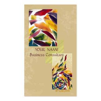El vidrio del arte sale de la tarjeta de visita ex