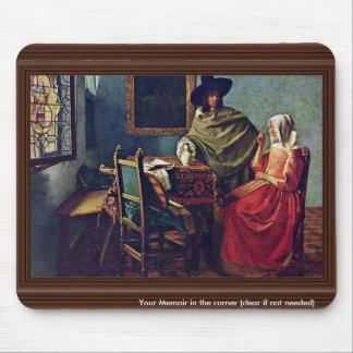 El vidrio del título del vino del Gemäldegalerie Alfombrilla De Ratón