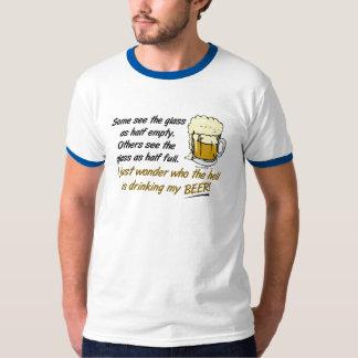 ¿El vidrio es semilleno? Camisetas Playera