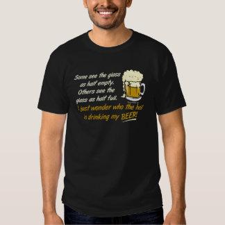 ¿El vidrio es semilleno? Camisetas Remera