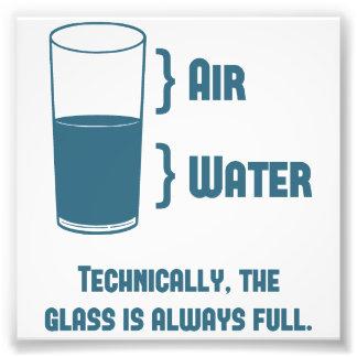 El vidrio es técnico siempre lleno impresiones fotograficas