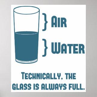El vidrio es técnico siempre lleno póster
