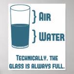 El vidrio es técnico siempre lleno posters
