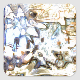 El vidrio florece acentos abstractos del diseñador pegatina cuadrada
