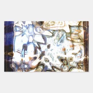 El vidrio florece acentos abstractos del diseñador pegatina rectangular