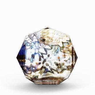 El vidrio florece acentos abstractos del diseñador