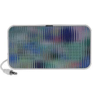 El vidrio metálico liso del arco iris teja el mode iPhone altavoces