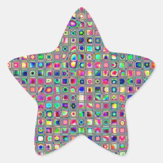 El vidrio multicolor apenado teja el modelo calcomanías forma de estrellaes personalizadas