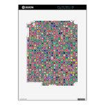 """El """"vidrio multicolor apenado"""" teja el modelo iPad 2 skin"""