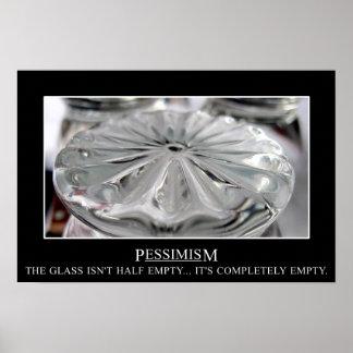 El vidrio no es apenas (l) semivacío póster