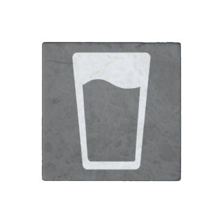 El vidrio ordeña símbolo imán de piedra