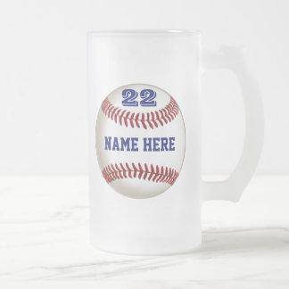 El vidrio personalizado del béisbol helado o el taza de cristal