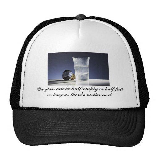 el vidrio puede ser semivacío o semilleno gorra