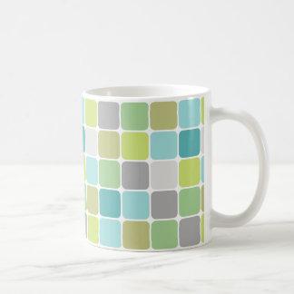 El vidrio teja la taza de café