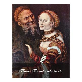 El viejo apasionado por Cranach D. Ä. Lucas (el me Tarjeton