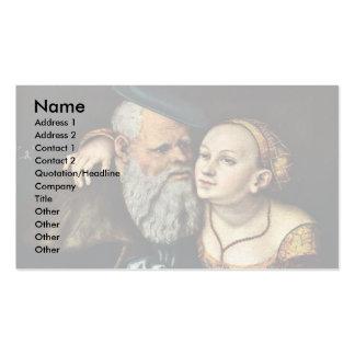 El viejo apasionado por Cranach D. Ä. Lucas (el me Tarjetas De Visita