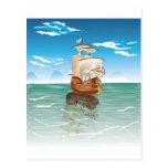 El viejo barco y el mar tarjetas postales