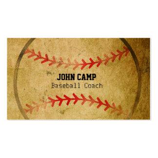 El viejo béisbol de la mirada del vintage se tarjetas de visita