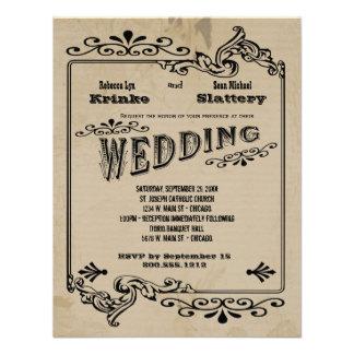 El viejo boda adaptable inspirado del oeste invita