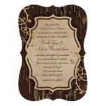 El viejo boda de madera del remolino de la vid del
