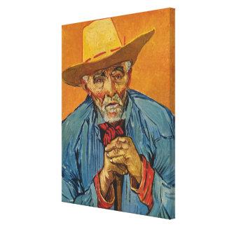 El viejo campesino de Van Gogh (paciencia Escalier Impresion En Lona