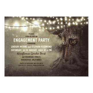 el viejo centelleo del roble enciende al fiesta de invitación 12,7 x 17,8 cm