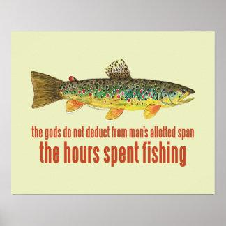 El viejo decir de la pesca posters