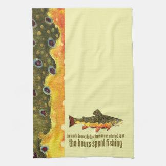 El viejo decir de la pesca toalla de cocina
