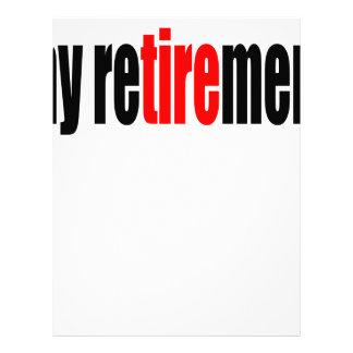 el viejo día jubilado retiro de la pensión membrete a diseño