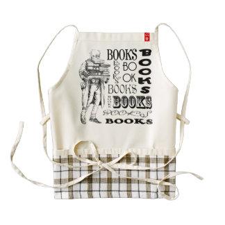 El viejo hombre del vintage lleva los libros delantal zazzle HEART