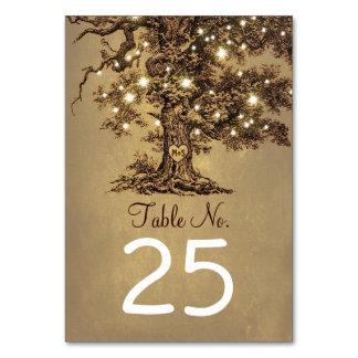 El viejo número de la tabla del boda del árbol
