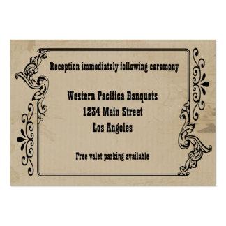 El viejo oeste inspiró la tarjeta de la recepción tarjetas de visita grandes